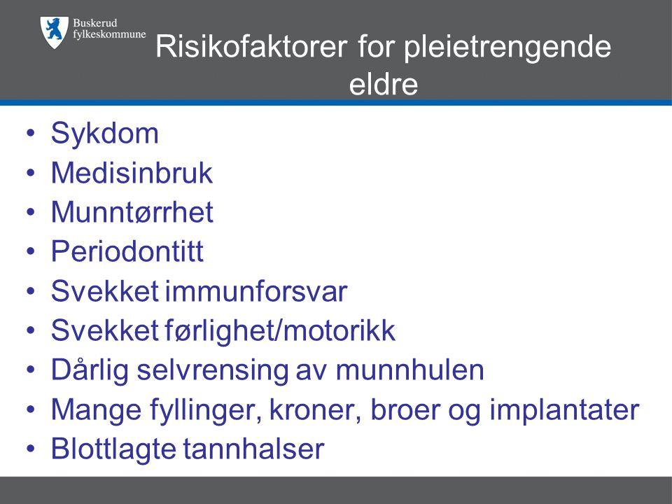 Risikofaktorer for pleietrengende eldre