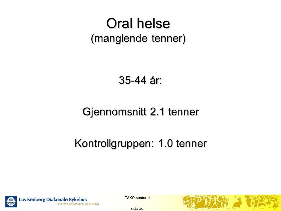 Oral helse (manglende tenner)
