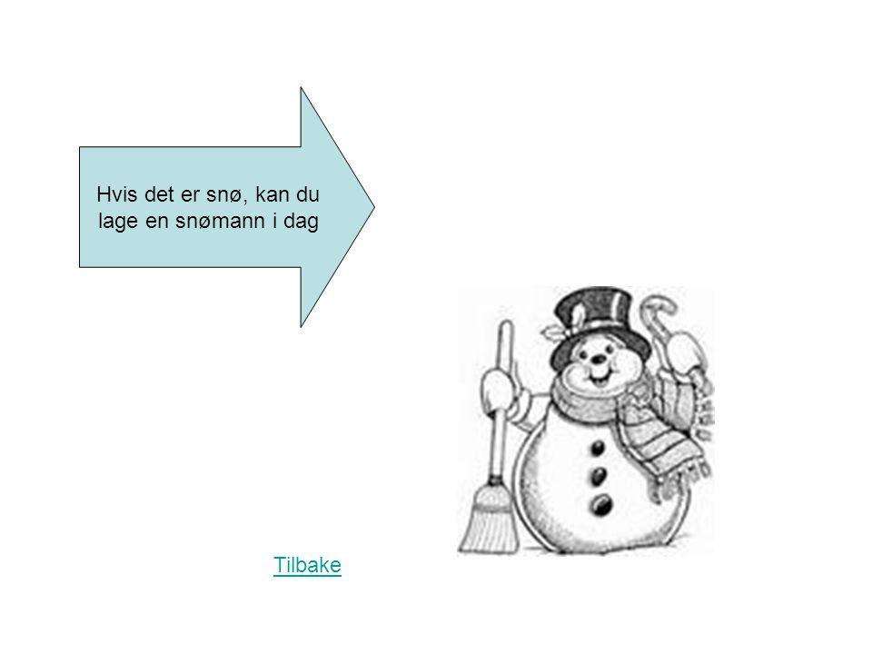 Hvis det er snø, kan du lage en snømann i dag Tilbake