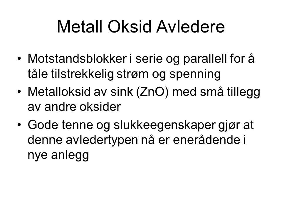 Metall Oksid Avledere Motstandsblokker i serie og parallell for å tåle tilstrekkelig strøm og spenning.