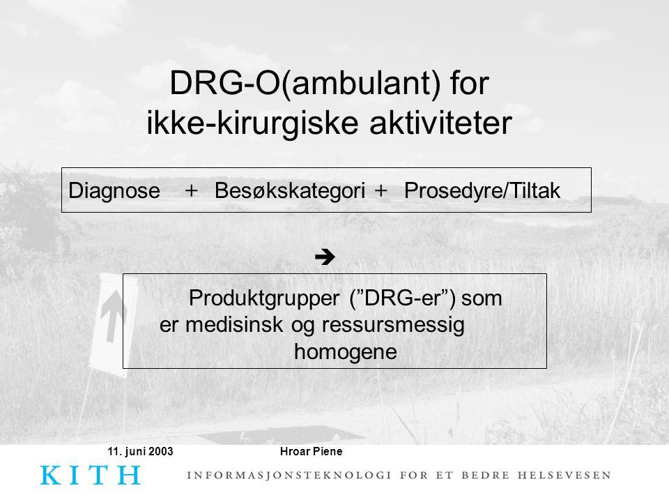 DRG-O(ambulant) for ikke-kirurgiske aktiviteter