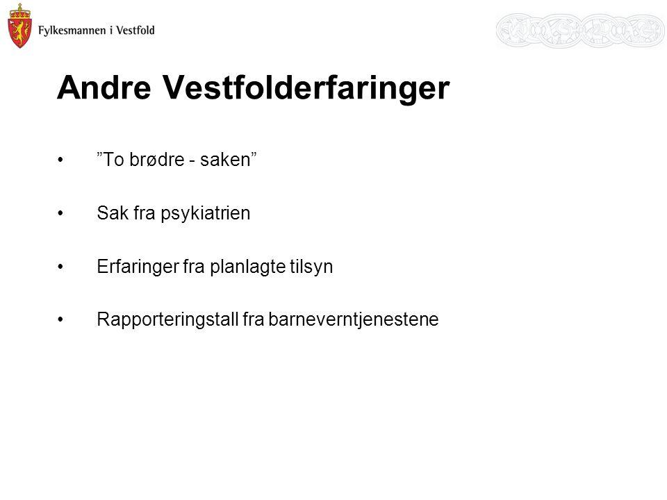 Andre Vestfolderfaringer