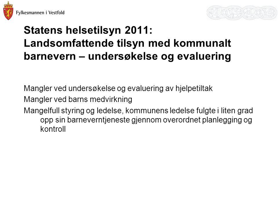 Statens helsetilsyn 2011: Landsomfattende tilsyn med kommunalt barnevern – undersøkelse og evaluering