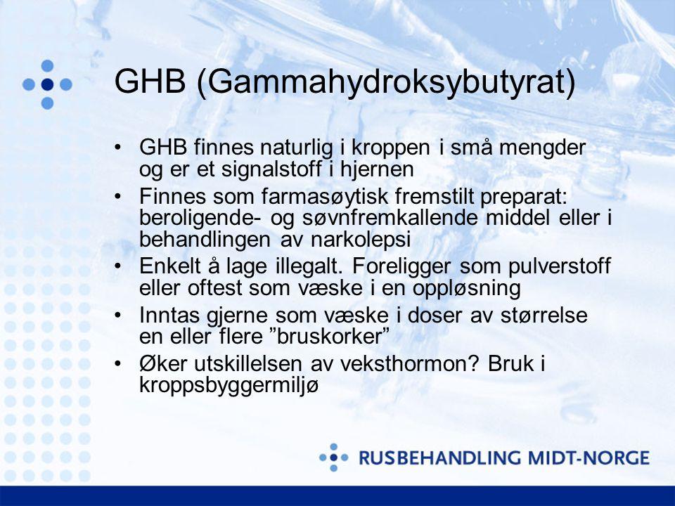 GHB (Gammahydroksybutyrat)