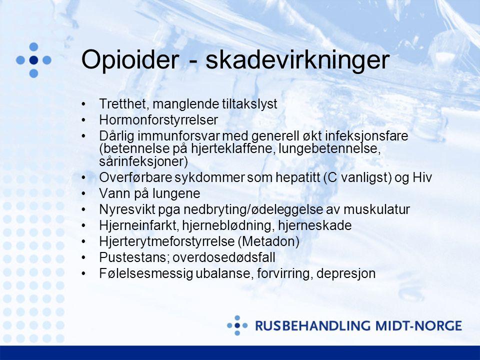 Opioider - skadevirkninger