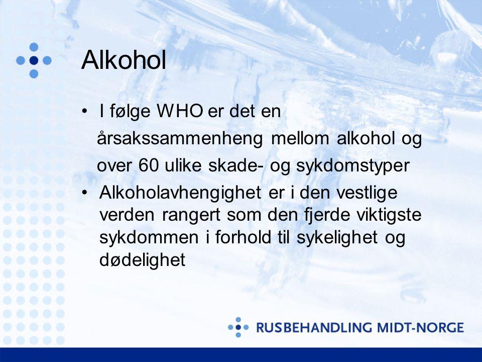 Alkohol I følge WHO er det en årsakssammenheng mellom alkohol og