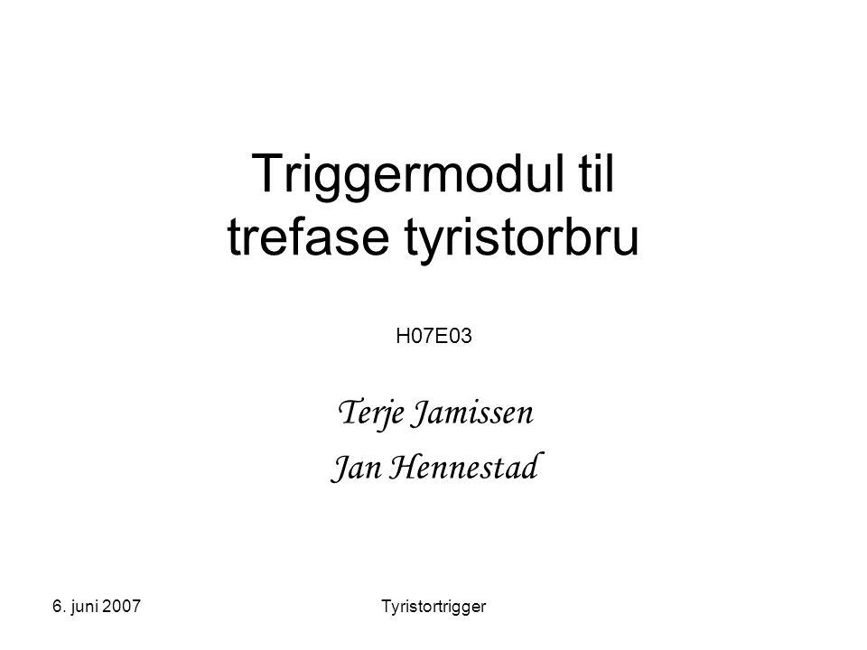 Triggermodul til trefase tyristorbru