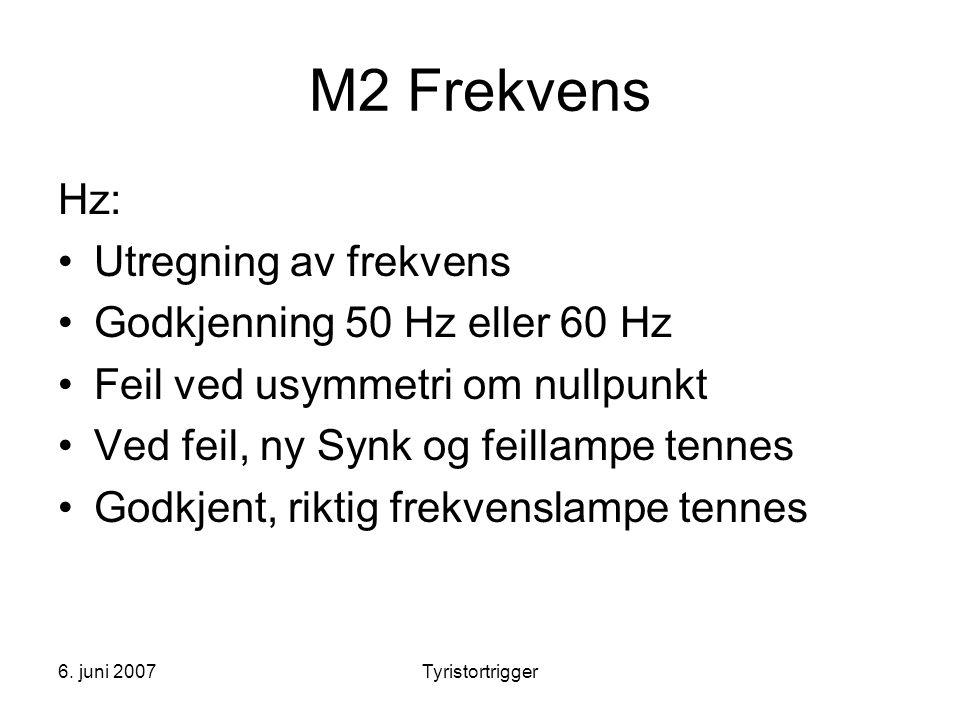 M2 Frekvens Hz: Utregning av frekvens Godkjenning 50 Hz eller 60 Hz