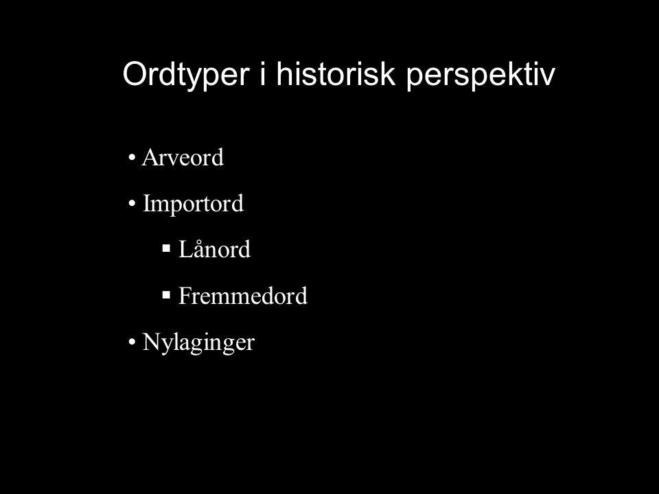 Ordtyper i historisk perspektiv