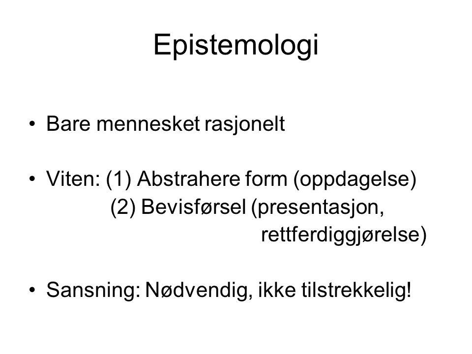 Epistemologi Bare mennesket rasjonelt