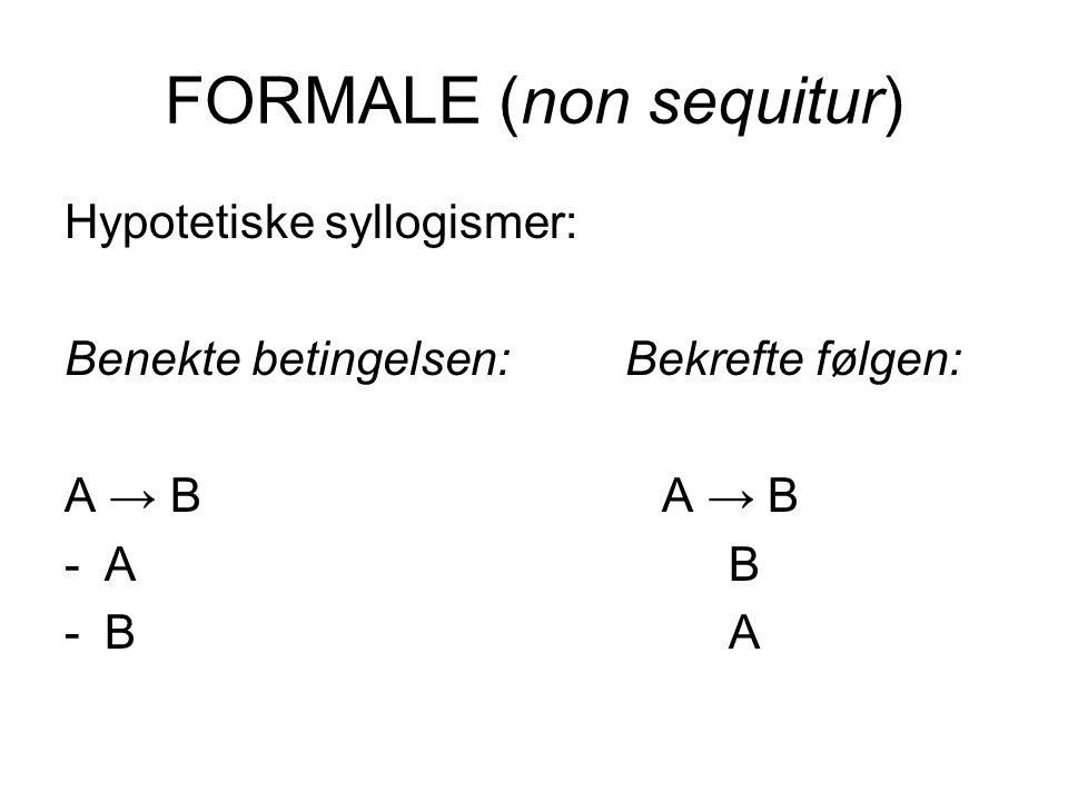 FORMALE (non sequitur)