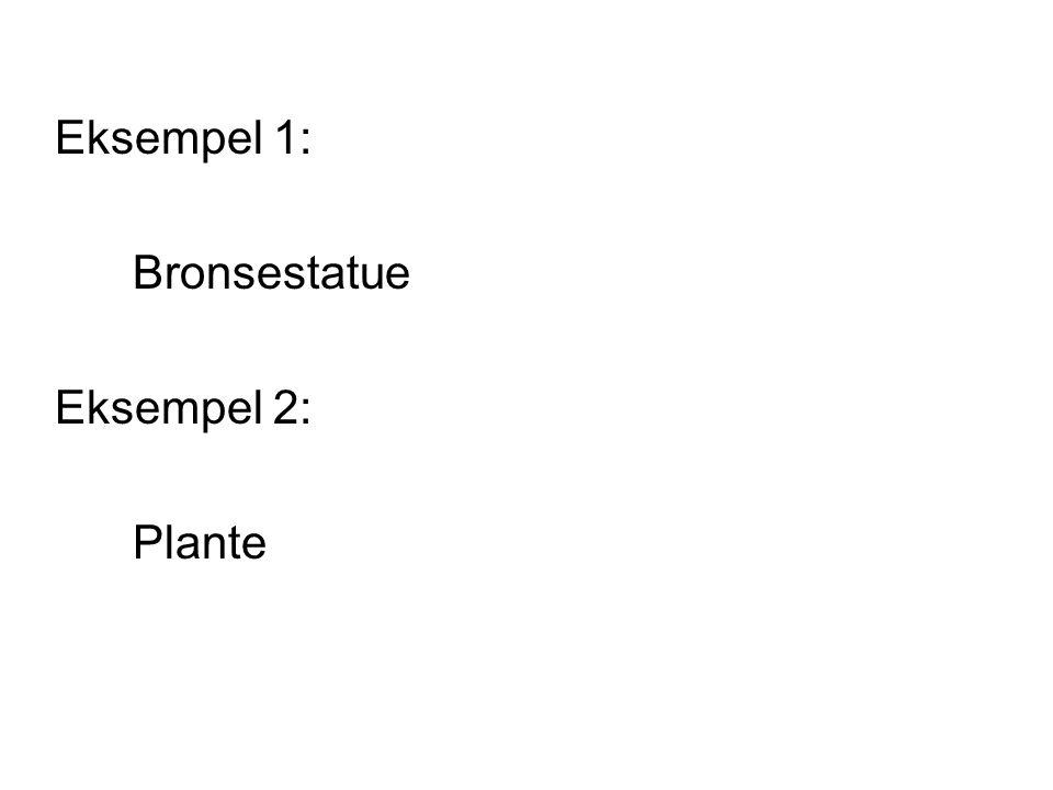 Eksempel 1: Bronsestatue Eksempel 2: Plante