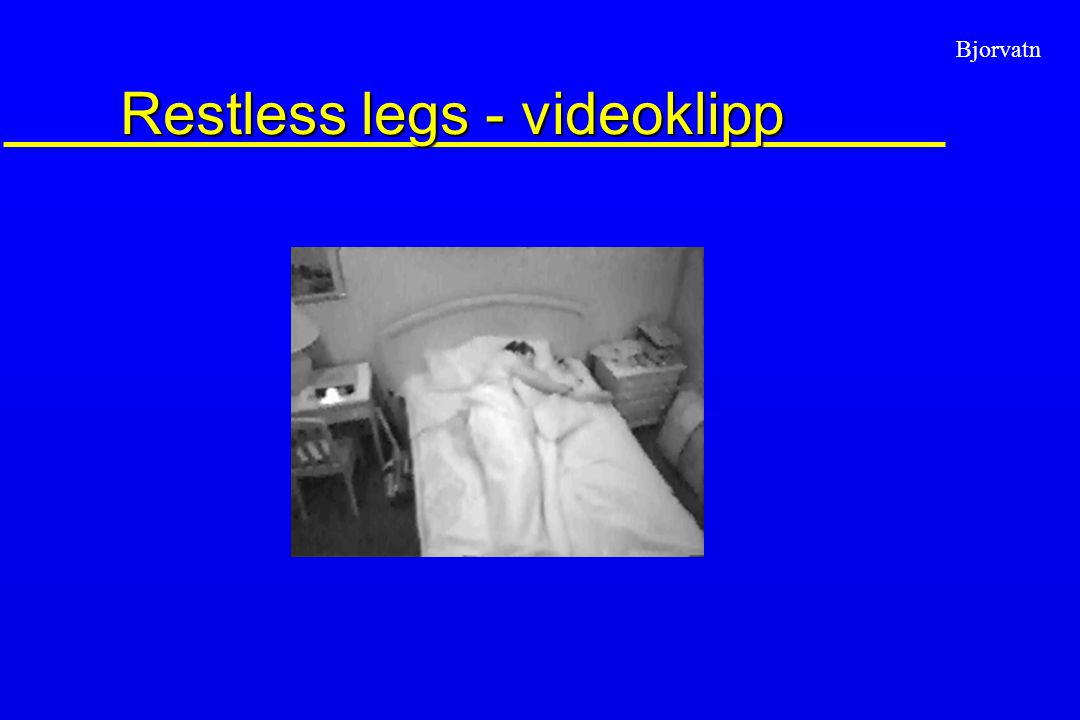 Restless legs - videoklipp
