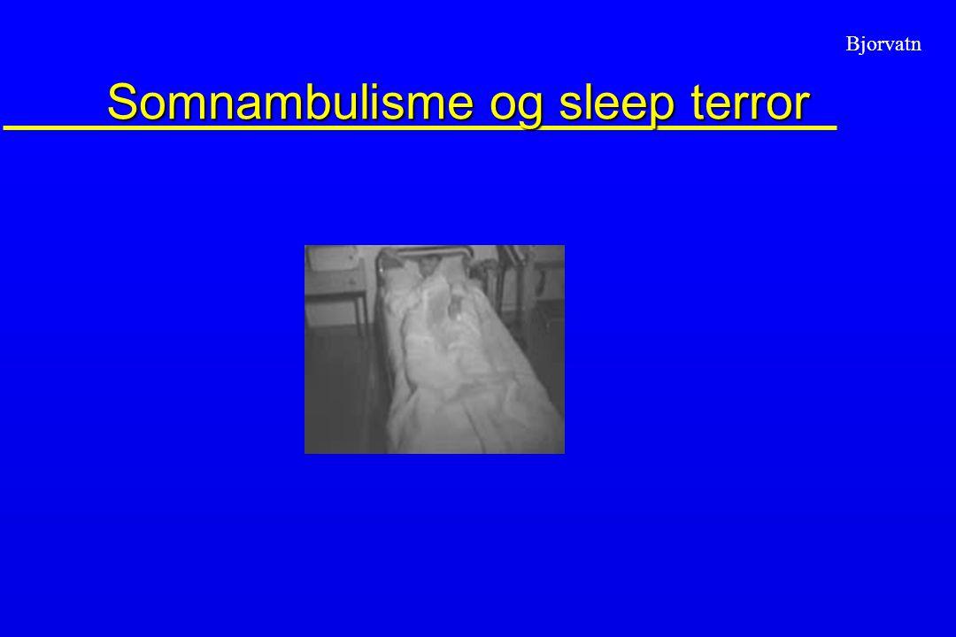 Somnambulisme og sleep terror