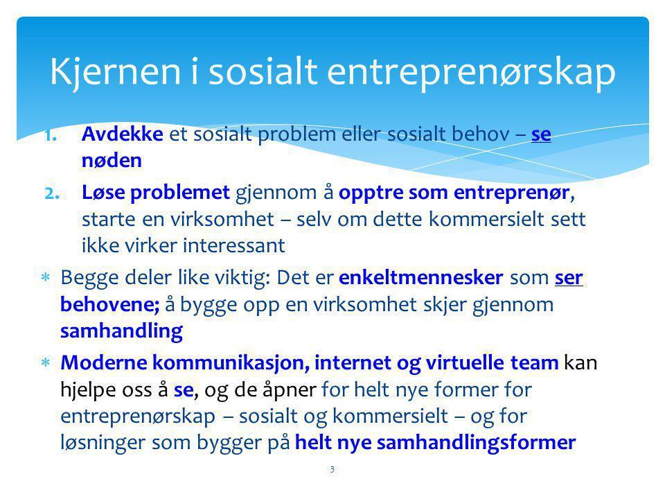 Kjernen i sosialt entreprenørskap