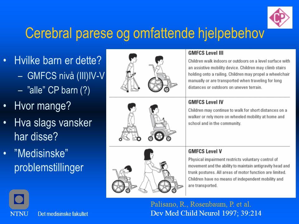 Cerebral parese og omfattende hjelpebehov