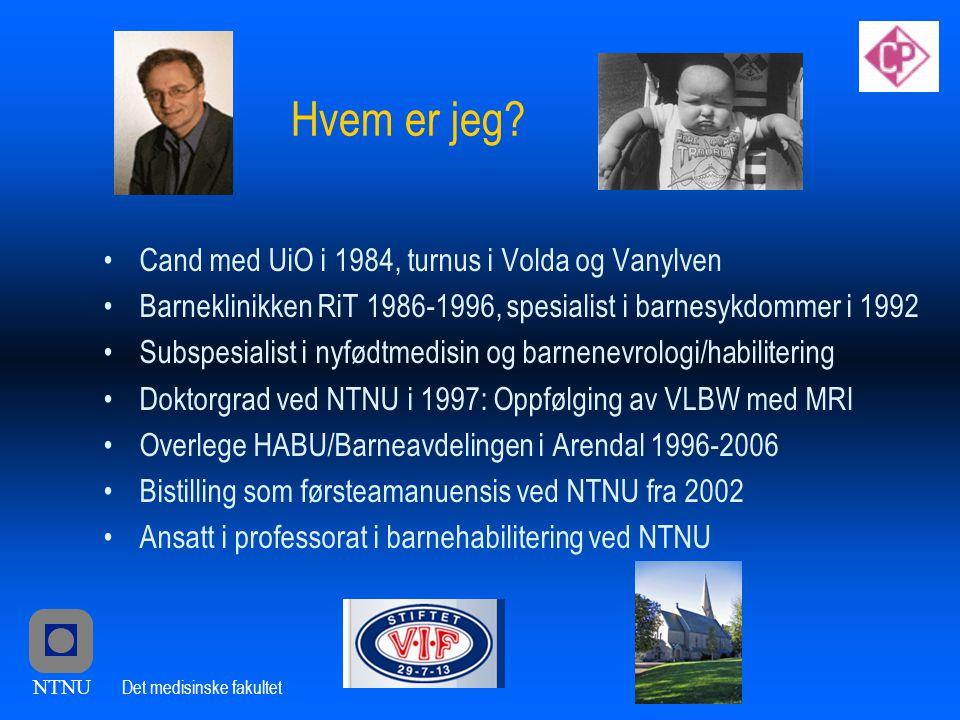 Hvem er jeg Cand med UiO i 1984, turnus i Volda og Vanylven