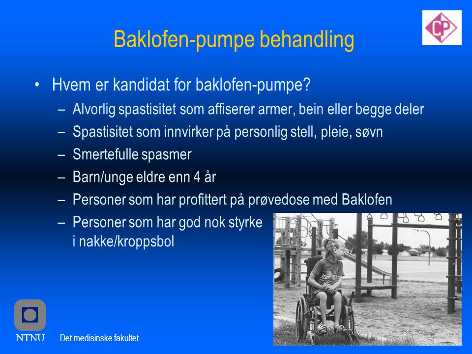 Baklofen-pumpe behandling