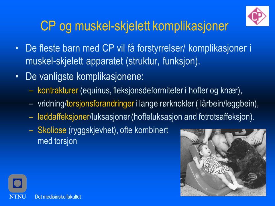 CP og muskel-skjelett komplikasjoner