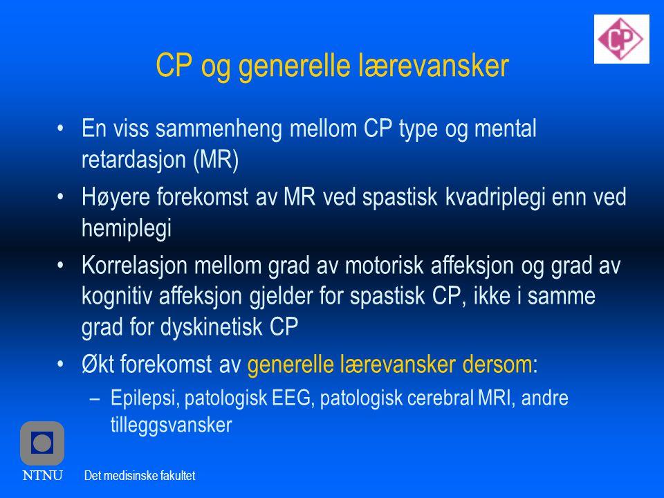 CP og generelle lærevansker