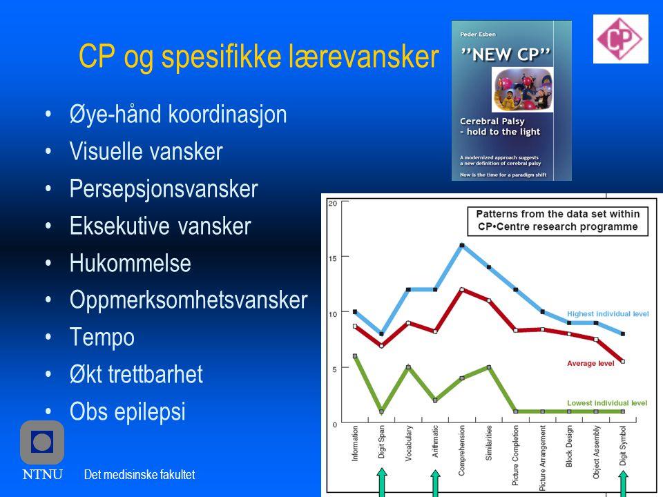 CP og spesifikke lærevansker