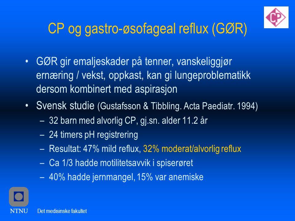 CP og gastro-øsofageal reflux (GØR)