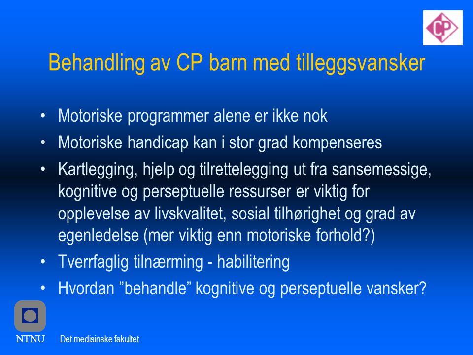 Behandling av CP barn med tilleggsvansker