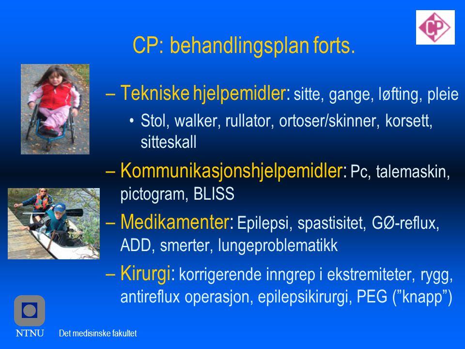 CP: behandlingsplan forts.