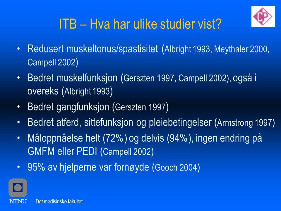 ITB – Hva har ulike studier vist