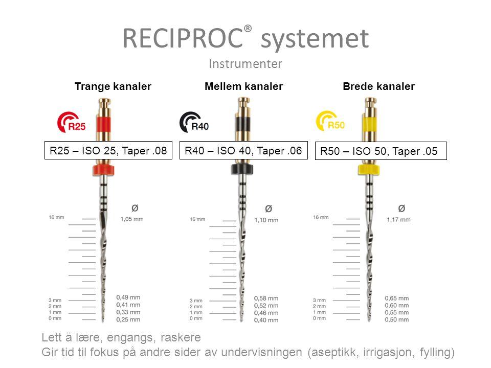 RECIPROC® systemet Instrumenter