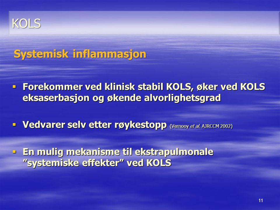 KOLS Systemisk inflammasjon