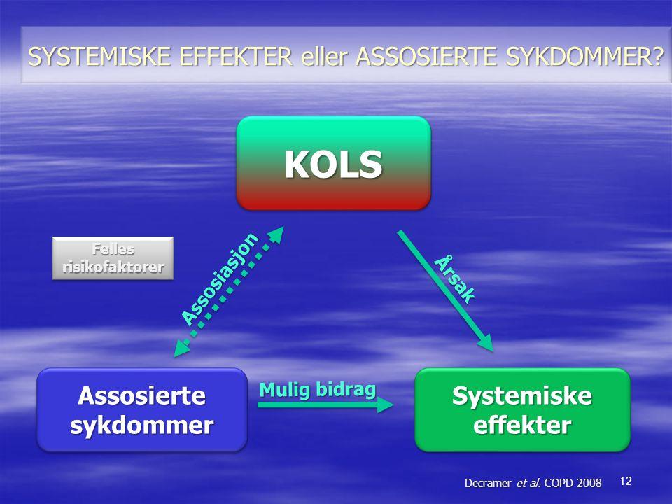 KOLS SYSTEMISKE EFFEKTER eller ASSOSIERTE SYKDOMMER Assosierte