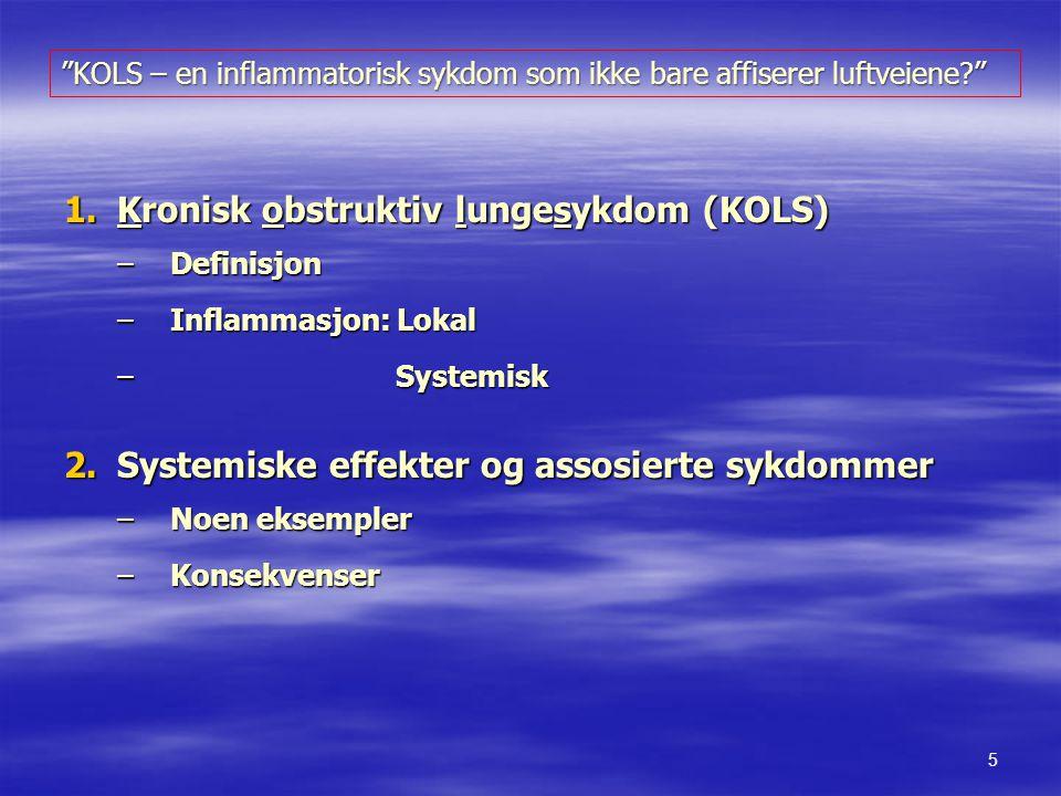 Kronisk obstruktiv lungesykdom (KOLS)