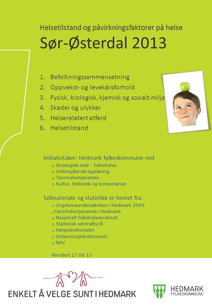 Helsetilstand og påvirkningsfaktorer på helse Sør-Østerdal 2013
