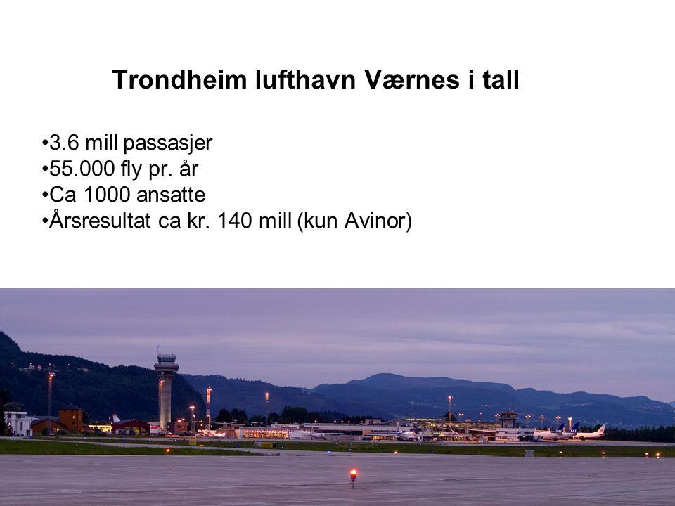 Trondheim lufthavn Værnes i tall