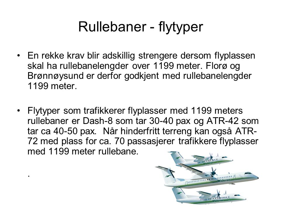 Rullebaner - flytyper