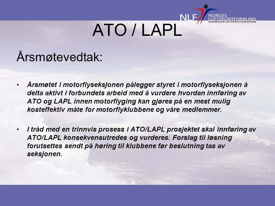 ATO / LAPL Årsmøtevedtak: