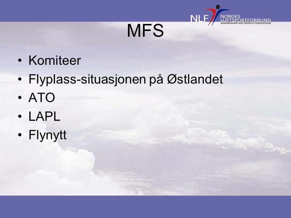 MFS Komiteer Flyplass-situasjonen på Østlandet ATO LAPL Flynytt