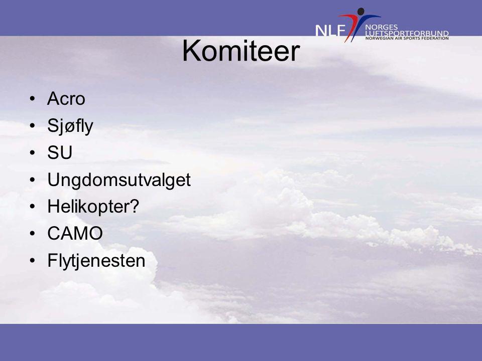 Komiteer Acro Sjøfly SU Ungdomsutvalget Helikopter CAMO Flytjenesten