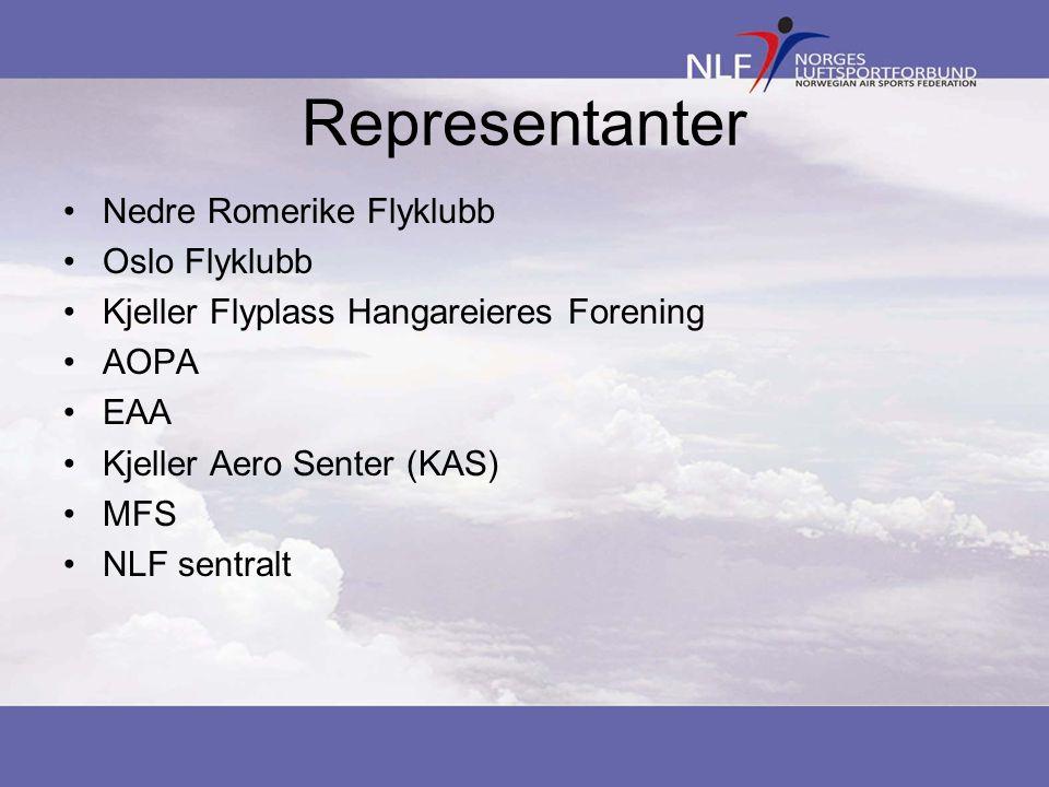 Representanter Nedre Romerike Flyklubb Oslo Flyklubb