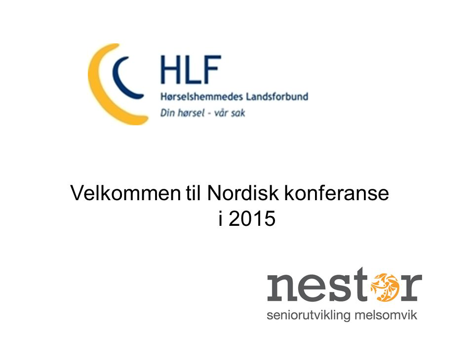 Velkommen til Nordisk konferanse i 2015