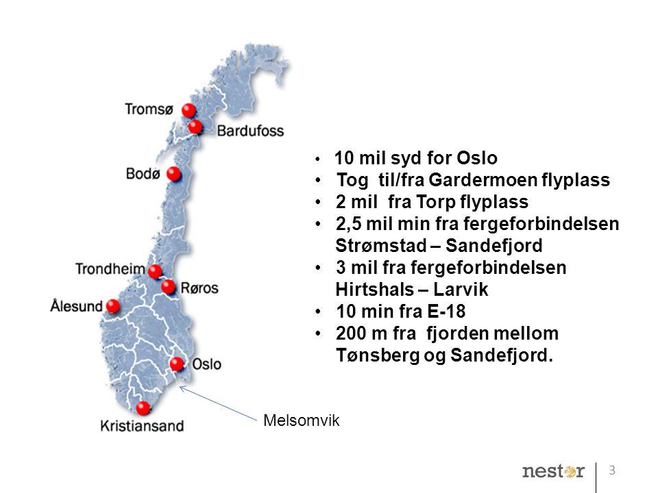 Tog til/fra Gardermoen flyplass 2 mil fra Torp flyplass
