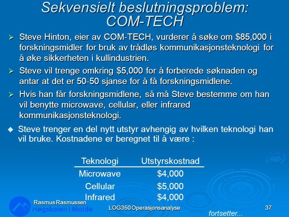 Sekvensielt beslutningsproblem: COM-TECH