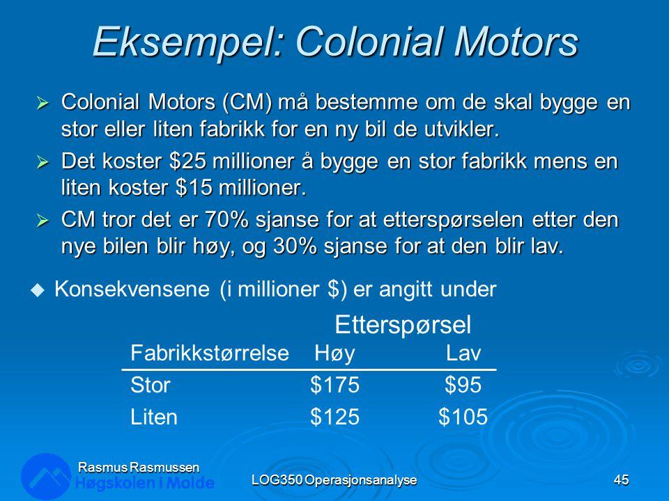 Eksempel: Colonial Motors