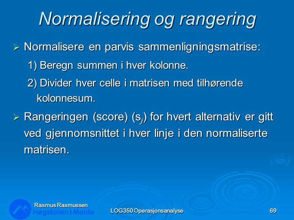 Normalisering og rangering