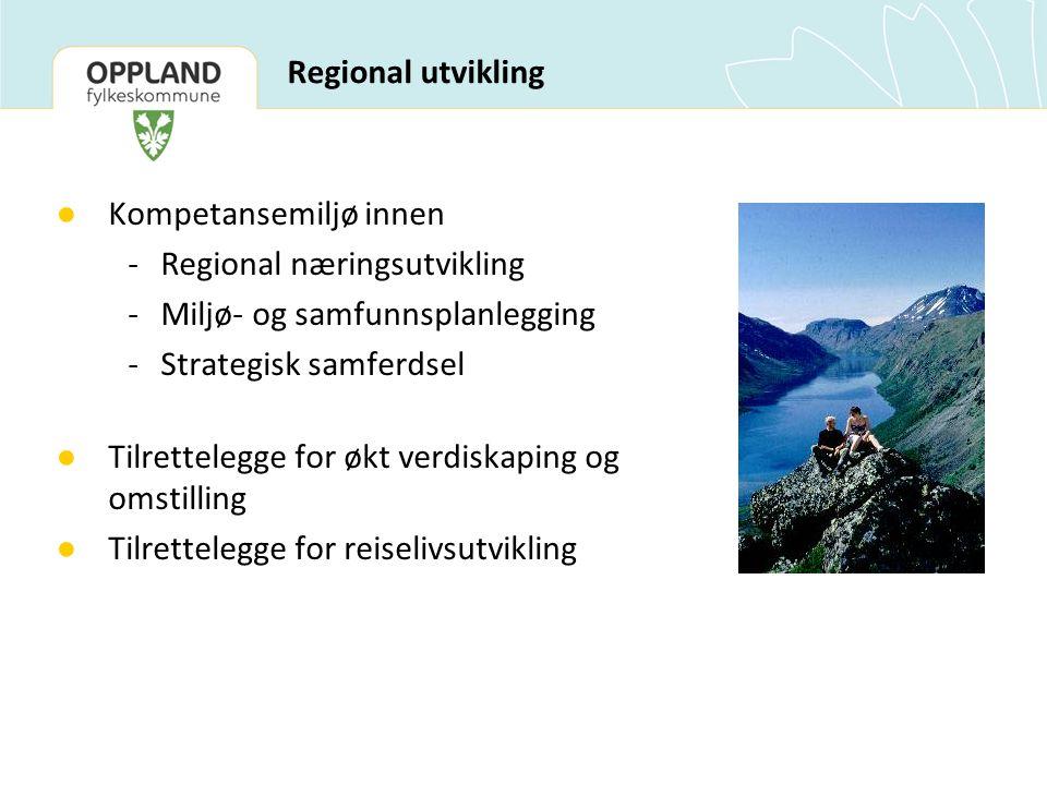 Kompetansemiljø innen - Regional næringsutvikling
