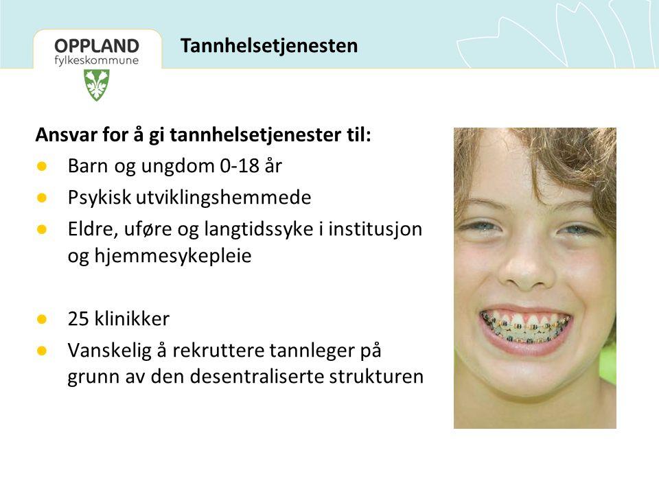Ansvar for å gi tannhelsetjenester til: Barn og ungdom 0-18 år