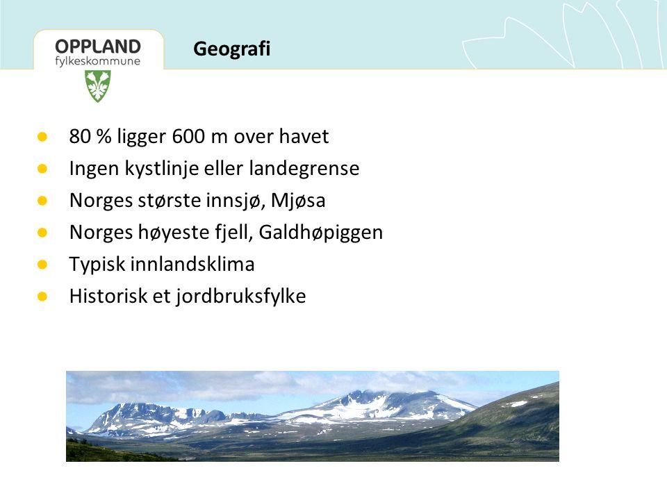 Ingen kystlinje eller landegrense Norges største innsjø, Mjøsa