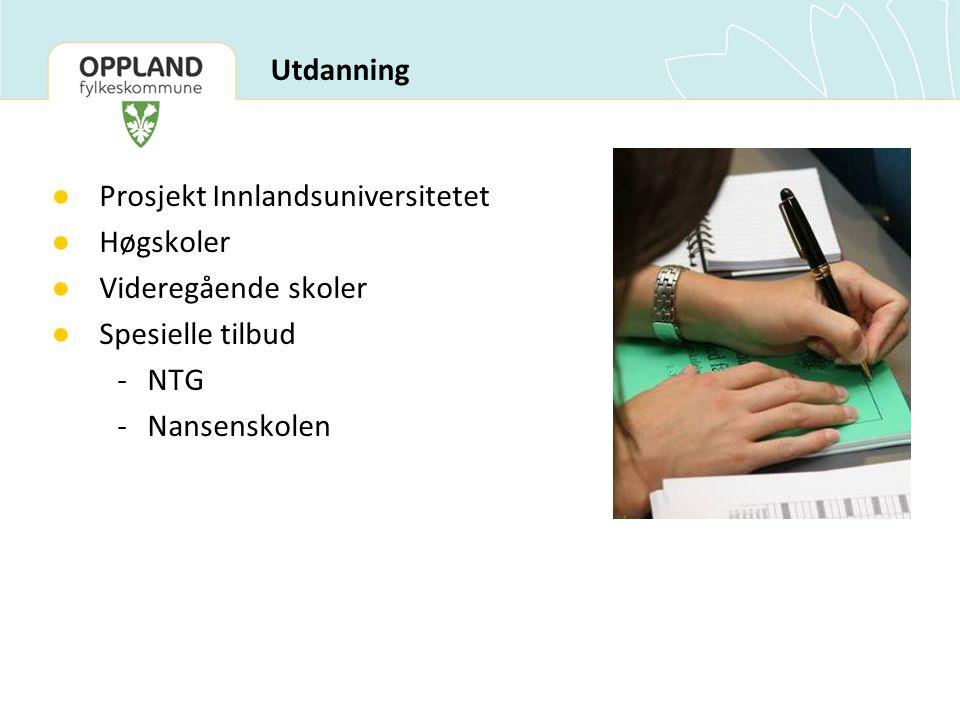 Prosjekt Innlandsuniversitetet Høgskoler Videregående skoler