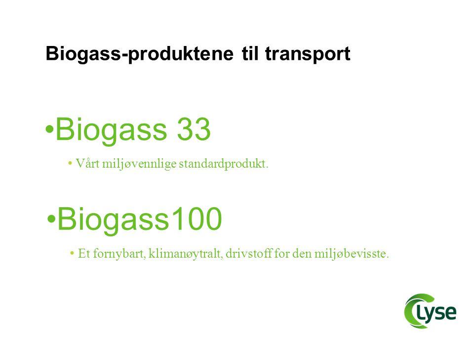 Biogass-produktene til transport